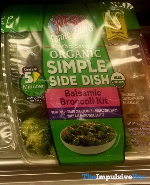Pero Family Farms Fresh n Savory Organic Simple Side Dish Balsamic Broccoli Kit