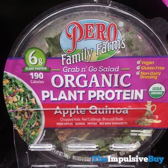 Pero Family Farms Grab n Go Salad Organic Plant Protein Apple Quinoa