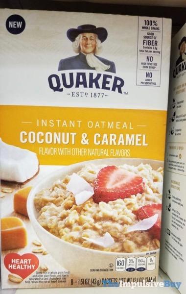 Quaker Coconut  Caramel Instant Oatmeal