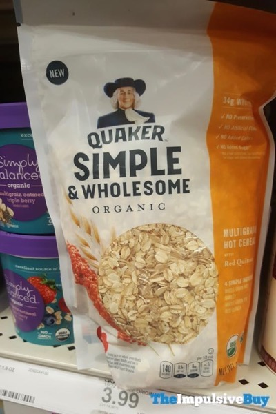 Quaker Simple  Wholesome Organic Multigrain Hot Cereal with Red Quinoa