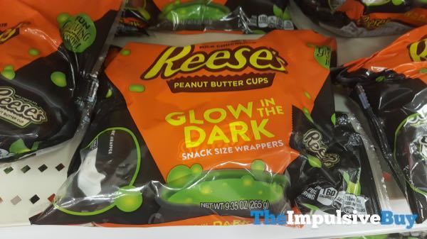 Reese s Peanut Butter Cups Glow in the Dark Snack Size Wrappers