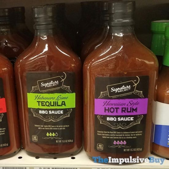 Safeway Signature Select Habaenro Lime Tequila and Hawaiian Style Hot Run BBQ Sauce