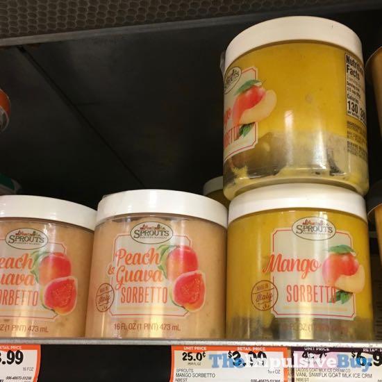 Sprouts Peach  Guava Sorbetto and Mango Sorbetto