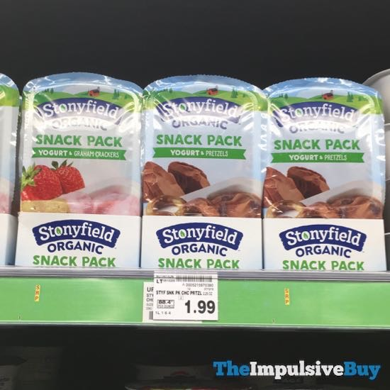Stonyfield Organic Snack Pack  with Graham Crackers and with Pretzels