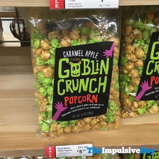 World Market Caramel Apple Goblin Crunch Popcorn