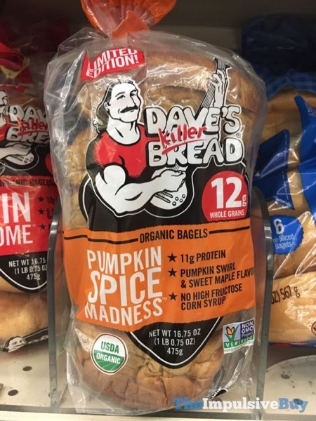 Dave s Killer Bread Limited Edition Pumpkin Spice Madness Organic Bagels