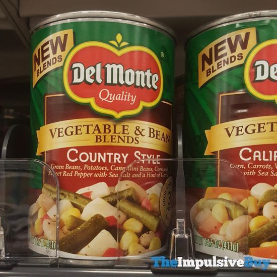 Del Monte Vegetable  Bean Blends Country Style and California Style