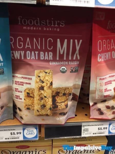 Foodstirs Cinnamon Raisin Organic Chewy Oat Bar Mix