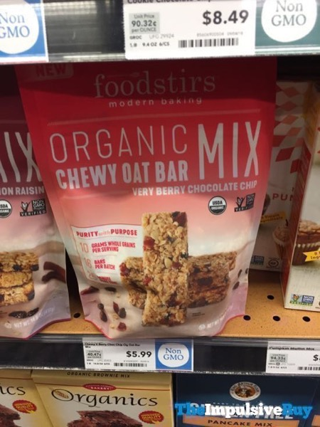 Foodstirs Very Berry Chocolate Chip Organic Chewy Oat Bar Mix