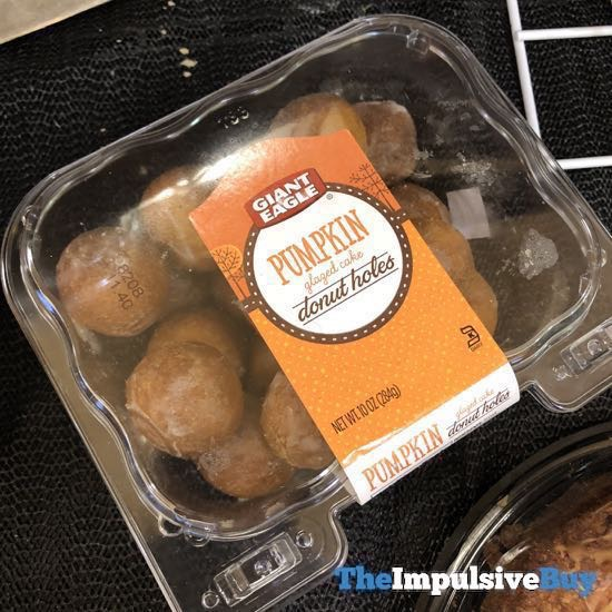 Giant Eagle Pumpkin Glazed Cake Donut Holes