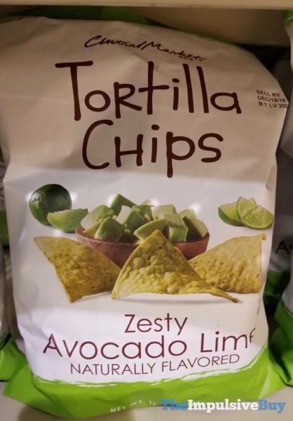 H E B Central Market Zesty Avocado Lime Tortilla Chips