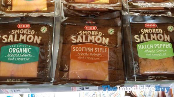 H E B Smoked Salmon  Organic Scottish Style and Hatch Pepper