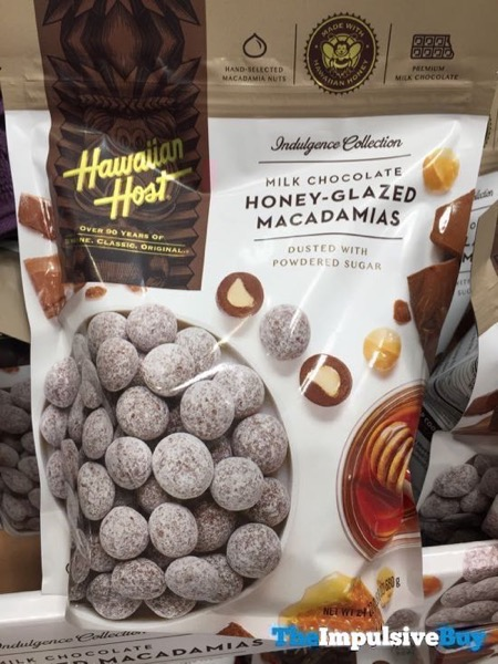 Hawaiian Host Indulgence Collection Milk Chocolate Honey Glazed Macadamias