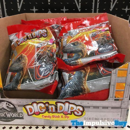 Jurassic World Dig  n Dips Candy Stick  Dip