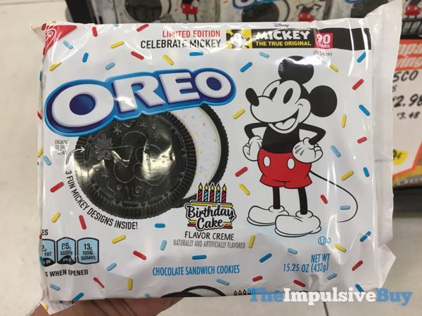 Limited Edition Celebrate Mickey Birthday Cake Oreo Cookies