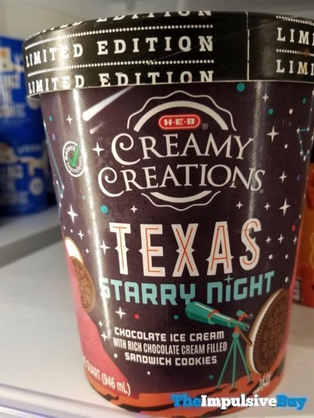Limited Edition H E B Creamy Creations Texas Starry Night Ice Cream