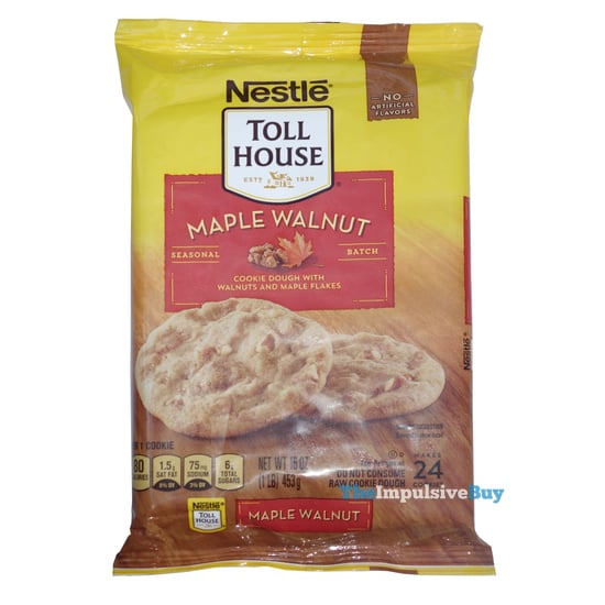 Nestle Toll House Seasonal Batch Maple Walnut Cookie Dough