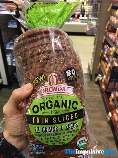 Oroweat Organic Thin Sliced 22 Grains  Seed Bread