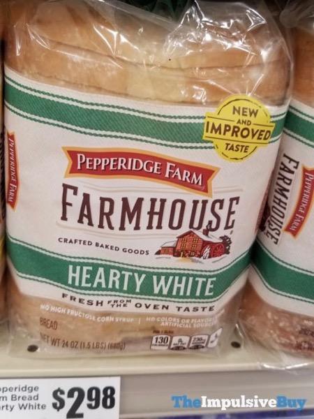 Pepperidge Farm Farmhouse Hearty White Bread New and Improved Taste