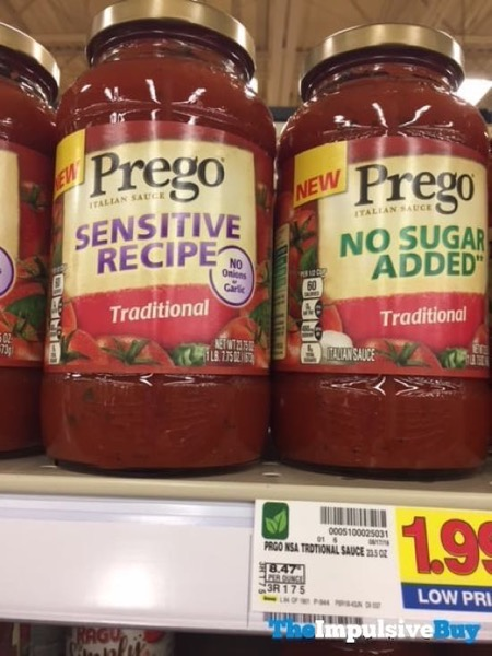 Prego Sensitive Recipe Traditional Italian Sauce