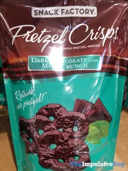 Snack Factory Dark Chocolate Mint Crunch Pretzel Crisps