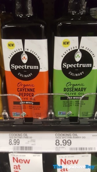 Spectrum Culinary Organic Cayenne Pepper and Rosemary Olive Oils