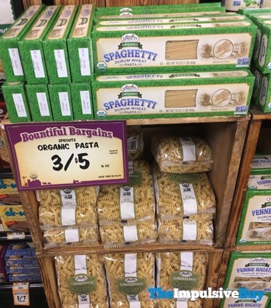 Sprouts Organic Durum Wheat Pasta  Spaghetti and Fusilli