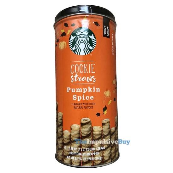 Starbucks Limited Edition Pumpkin Spice Cookie Straws