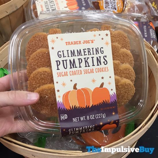 Trader Joe s Glimmering Pumpkins Sugar Coated Sugar Cookies