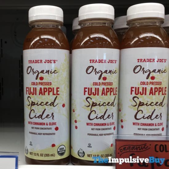 Trader Joe s Organic Cold Pressed Fuji Apple Spiced Cider
