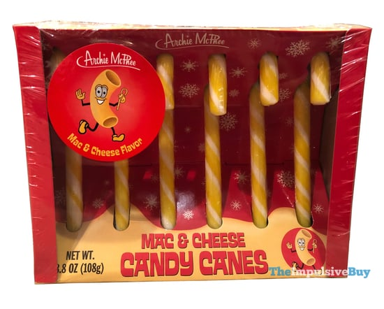 Archie McPhee Mac & Cheese Candy Canes