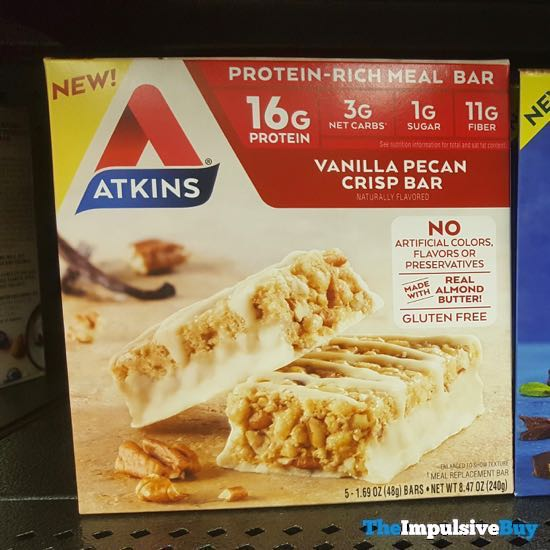 Atkins Vanilla Pecan Crisp Bar