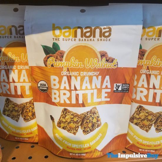 Barnana Pumpkin Walnut Banana Brittle