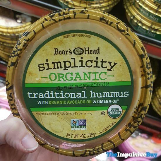 Boar s Head Simplicity Organic Traditional Hummus