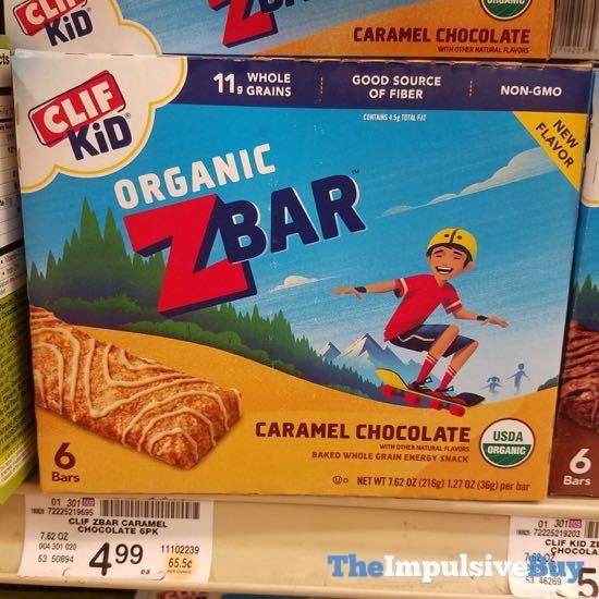 Clif Kid Organic ZBar Caramel Chocolate