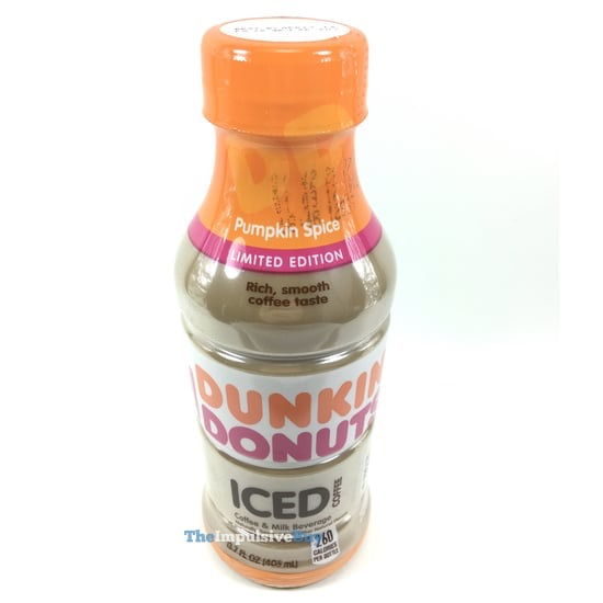 Dunkin Donuts Limited Edition Pumpkin Spice Bottled Iced Coffee