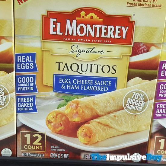 El Monterey Signature Taquitos Egg Cheese Sauce  Ham Flavored
