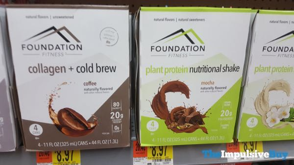 Foundation Fitness Coffee Collagen + Cold Brew and Mocha Plant Protein Nutritional Shake