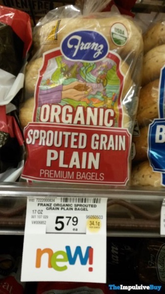 Franz Organic Sprouted Grain Plain Premium Bagels