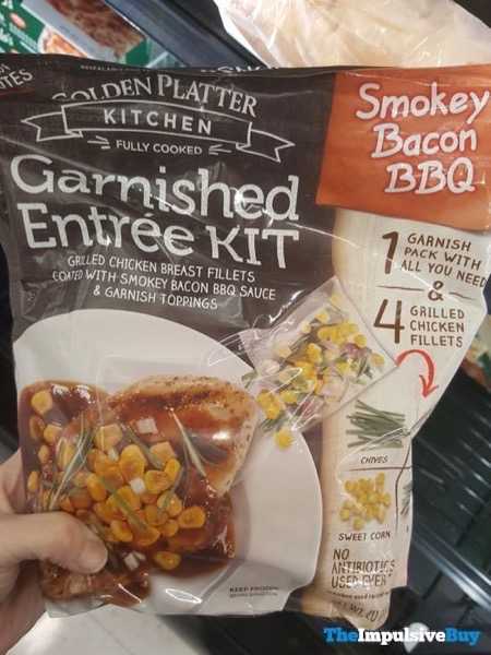 Golden Platter Kitchen Smokey Bacon BBQ Garnished Entree Kit