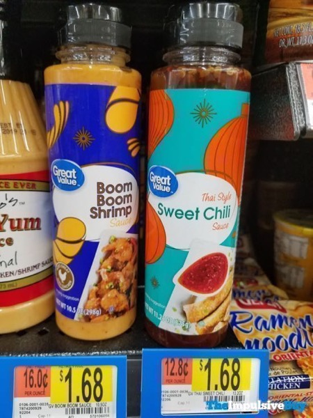 Great Value Boom Boom Shrimp Sauce and Thai Style Sweet Chili Sauces