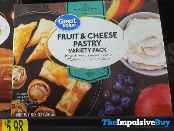 Great Value Fruit  Cheese Pastry Variety Pack