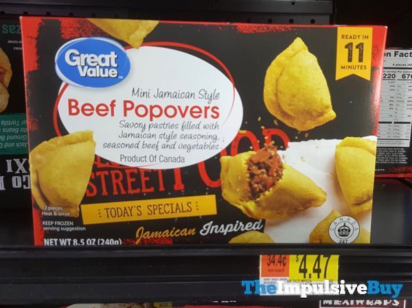 Great Value Global Street Food Mini Jamaican Style Beef Popovers