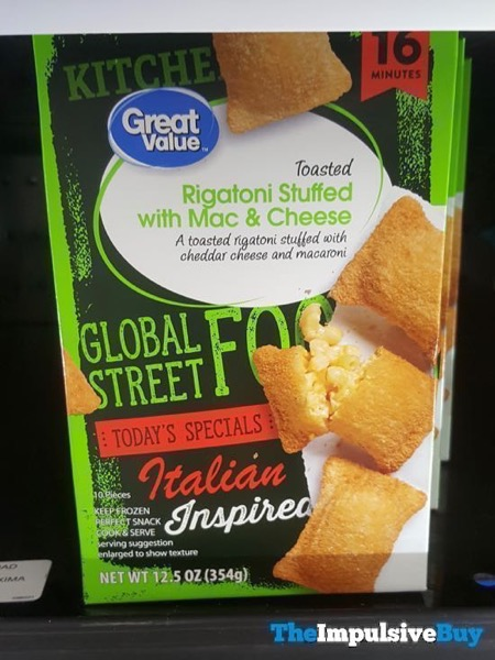 Great Value Global Street Food Toasted Rigatoni Stuffed with Mac  Cheese