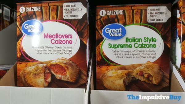 Great Value Meatlovers and Italian Style Supreme Calzones