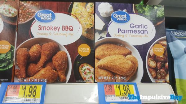 Great Value Smoky BBQ and Garlic Parmesan Coating  Seasoning Mix