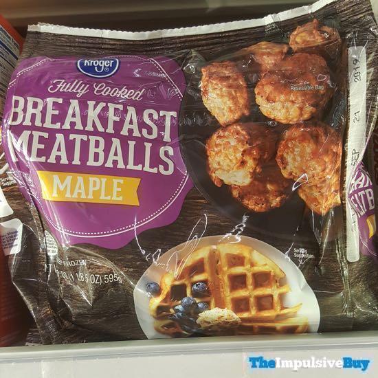 Kroger Maple Breakfast Meatballs