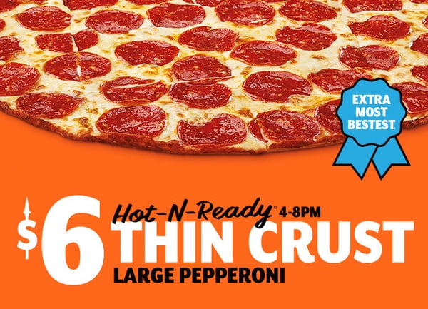 Little Caesars New Thin Crust Pizza