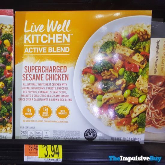 Live Well Kitchen Active Blend Supercharged Sesame Chicken