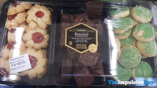 Marketside Assorted Desserts  Shortbread Chocolate Chip Brownies and Raspberry Spritz Cookies